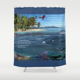 What Is Man? Shower Curtain