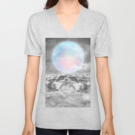 Places Neither Here Nor There (Guardian Moon) Unisex V-Neck