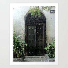 secret door, mombasa, kenya Art Print