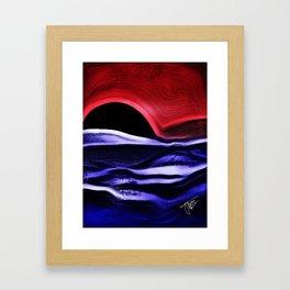 Bad Moon Rising Framed Art Print