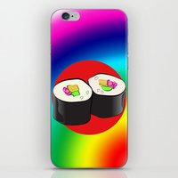 sushi iPhone & iPod Skins featuring Sushi! by Oceanic Inks
