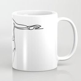 Volleyball Player Striking Ball Continuous Line Coffee Mug