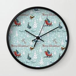 Merry christmas pattern SB13 Wall Clock