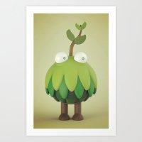 kodama Art Prints featuring kodama by Tian