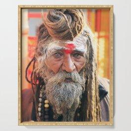 Baba, Rishikesh, India Serving Tray