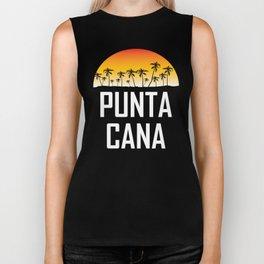 Punta Cana Sunset And Palm Trees Beach Biker Tank