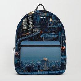Osaka -  Umeda -  Panorama -  City -  Cityscape -  Skyline - Vintage illustration. Retro décor. Backpack
