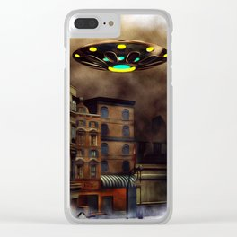 The City Visitor - UFO Invasion Clear iPhone Case