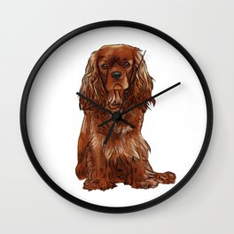Cavalier King Charles Spaniel - Ruby Wall Clock