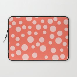 Living Coral Polka Dot Party Laptop Sleeve