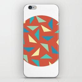 circular triangular iPhone Skin