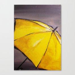 Yellow umbrella 2 Canvas Print