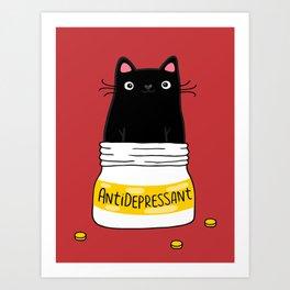 FUR ANTIDEPRESSANT Art Print