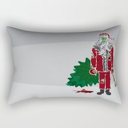 Zombie (Santa) Claus Rectangular Pillow