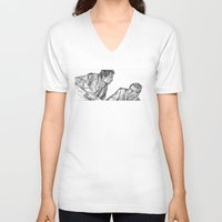 mcfly V-neck T-shirts featuring mcfly by BzPortraits