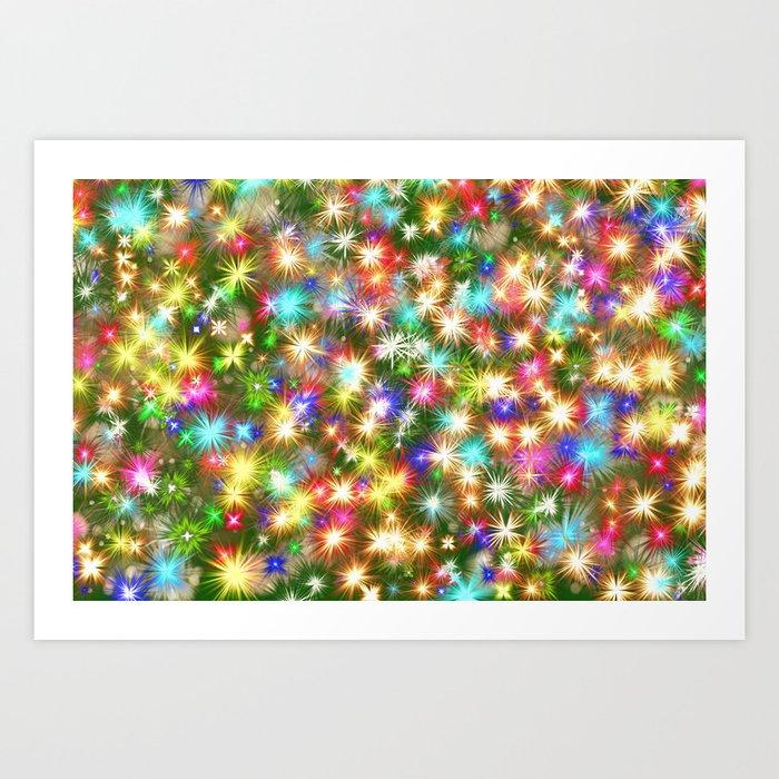 Star colorful christmas abstract Kunstdrucke