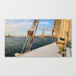 Egypt - Felucca Sailing on the Nile Canvas Print