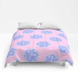 Twenty Sided Dice Pattern Comforters