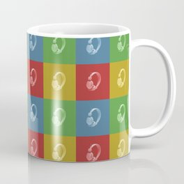 Headphone Tartan Pattern Coffee Mug