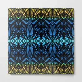 Fractal Art Stained Glass G315 Metal Print