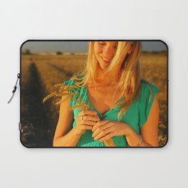 girl on the field Laptop Sleeve