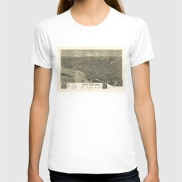 Vintage Pictorial Map of Sioux City Iowa (1888) T-shirt