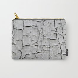 Grey Peeling Paint Texture Design Carry-All Pouch
