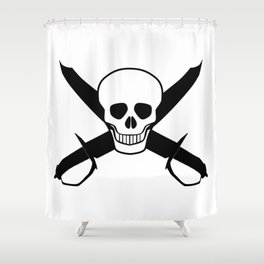 Skull and Cutlasses Shower Curtain