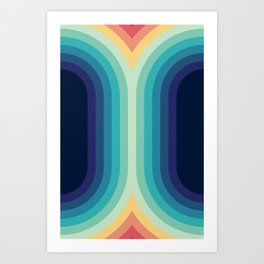 Retro Smooth 001 Art Print