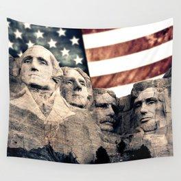 Patriotic Mount Rushmore Wall Tapestry