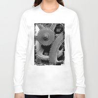 gears of war Long Sleeve T-shirts featuring Big Gears by Chicca Besso