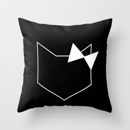Lady Fox Throw Pillow