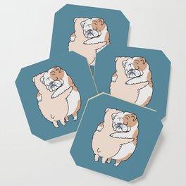 English Bulldog Hugs Coaster