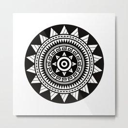 Sun -Polynesian Tattoo Style Metal Print
