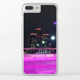 at night, we come alive. Clear iPhone Case