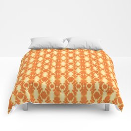 rotary tie-dye pattern in sunny yellows Comforters