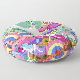 Gary the Farting Unicorn Floor Pillow