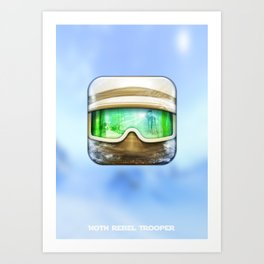 Hoth Rebel Trooper Art Print