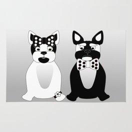 Date Night  - French Bulldogs Rug