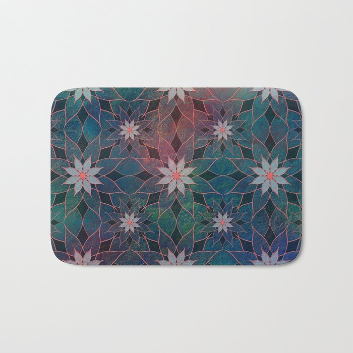Water Lily Pattern Bath Mat