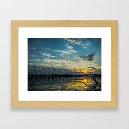Lake Champlain Vermont Sunrise - 2 Landscape Framed Art Print