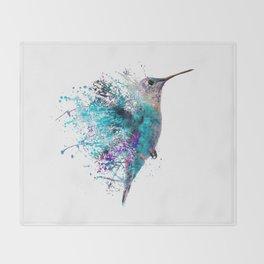 HUMMING BIRD SPLASH Throw Blanket