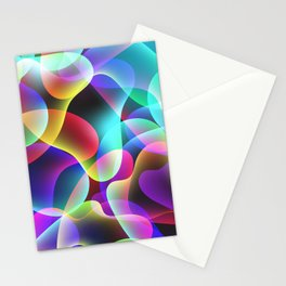 Electric  Rainbow Jellyfish Stationery Cards