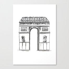 Arc De Triomphe Sketch no. 2 Canvas Print