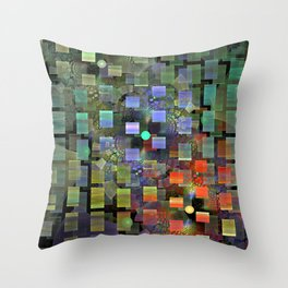 Blocked and Unbound Throw Pillow