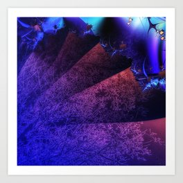 Pleated fantasy forest Art Print