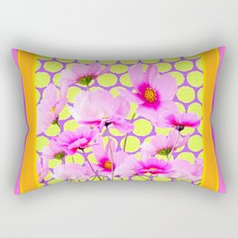 MODERN PINK COSMOS GARDEN ART Rectangular Pillow
