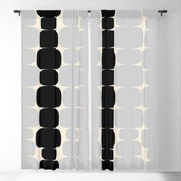 Abstraction_Balance_ROCKS_BLACK_WHITE_Minimalism_001 Blackout Curtain
