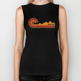 Retro Morgantown West Virginia Skyline Biker Tank