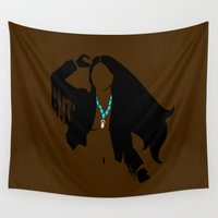pocahontas Wall Tapestries featuring Pocahontas follows rivers. by Ube Bones